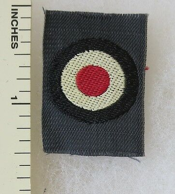 ORIGINAL WW2 Vintage GERMAN LUFTWAFFE AIR FORCE BEVO COCKADE CAP / HAT PATCH
