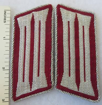 ORIGINAL PAIR of WW2 Vintage GERMAN POLICE GEMEINDEN POLIZEI COLLAR TAB PATCHES