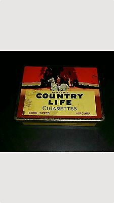 Player's Country Life Cigarettes Tin