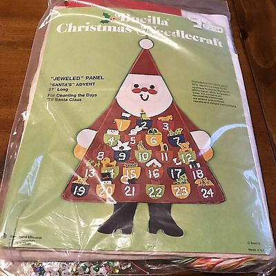 New Sealed Bucilla  Santa Claus Advent Christmas Calendar Nip 2134