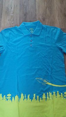 Loot Crate DX Exclusive MENS Collar POLO/Golf Shirt FUTURAMA SHIRT SIZE M  NEW