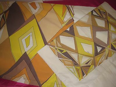 Vintage Emilio Pucci Wondercale Springmaid TWIN Flat Sheet Matching Pillowcase