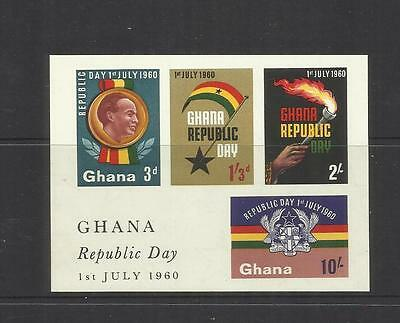 Ghana ~ 1960 Republic Day Mini Sheet (Imperf.) Mint Mnh