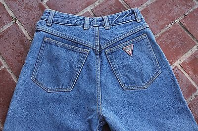 Vintage Women's GUESS JEANS 31 High Waisted 1050 Tapered Leg Made in USA 1980s