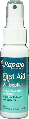 Rapaid Antiseptic First Aid Spray 50mlx7 VALUE PACK