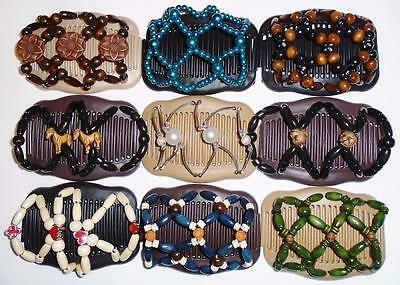 Double Magic Hair Combs, Angel Wings Clips, African Butterfly Style, Quality S60