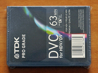 TDK PRO GRADE DVC 63 for HDV mini DV miniDV HD New Blank Sealed Tape Cassette