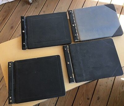 4-Top Lock Post Binder Books -Vintage Office Accounting Finance Ledger, w/ Paper