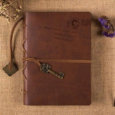 Magic Key String Retro Hardcover Leather Note Book Diary Notebook Blank Journal