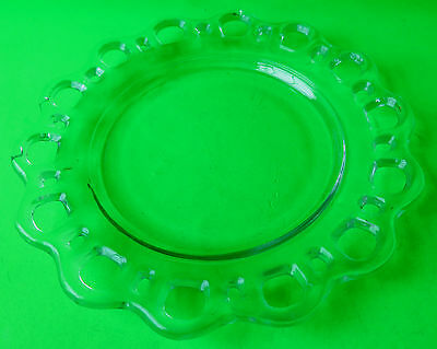 Old Colony Anchor Hocking Depression Glass Luncheon Salad Plate Laced Rims