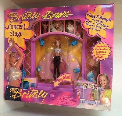 2000 Britney Spears Concert Stage w Limited Edition Doll NEW SEALED BOX