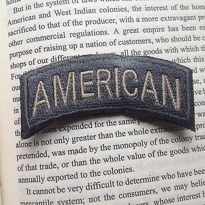 American Tactical Military Usa Army Isaf Morale Badge Swat Patch Gray