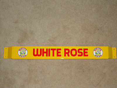 Door push bar retro antique vintage White Rose gasoline