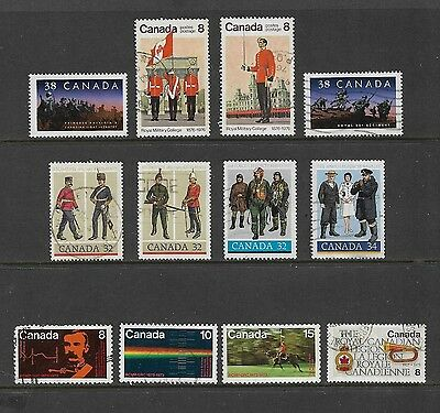 CANADA - 1973-1989 RCMP, Army, Air Force, Navy, Regiments, Military, used