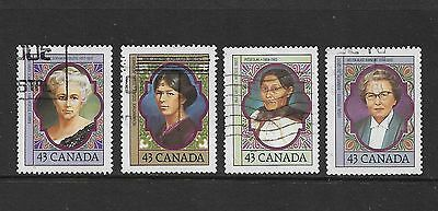 CANADA - 1993 Prominent Canadian Women, set of 4, used