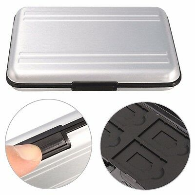 8 in 1 Aluminum Storage Box SD/SDHC/SDXC/MMC Memory Card Wallet Case Protector