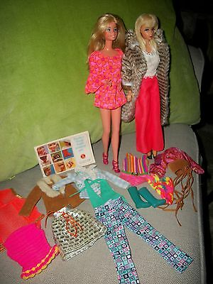 Mod Era Mixed Barbie Lot Living Barbie Superstar Clothing Accessories Gorgeous!