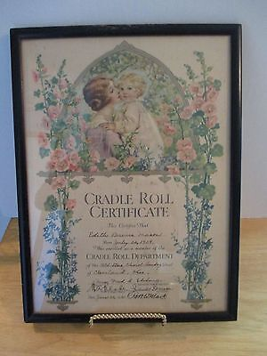 Authentic  1930 Cradle-Roll Certificate For Church Baby Class