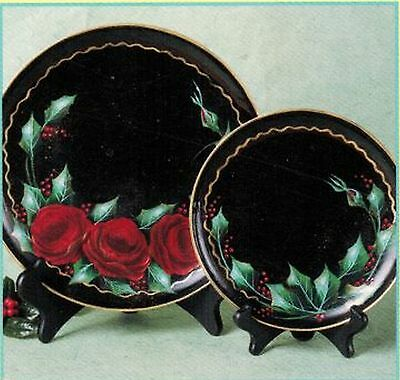 Tole Decorative Painting Tableware Dinner Charger Xmas Plates Bowls Teapot Book