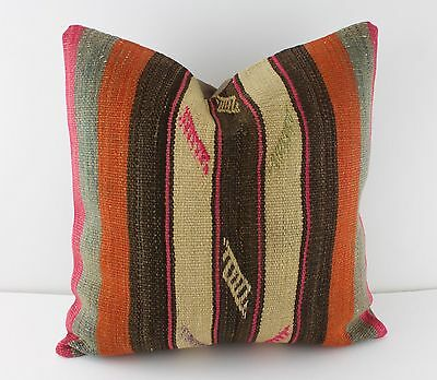 "kilim pillow Turkish handmade kilim rug pillow decorative pillow 16"" sofa pillow"