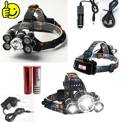 CREE T6 Super Bright Headlight Fishing Hiking Camping Riding Torch Rechageable