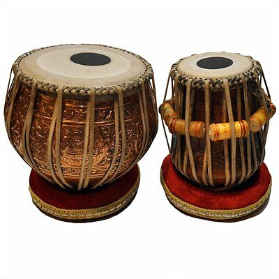 638888969746 MUKTA DAS Professional Tabla Set4.0Copper Bayan with Mahogany Dayan