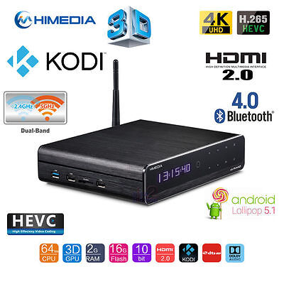 Himedia Q10 Pro 4K Ultra HD Android 5.1 TV Box Quad Core 3D 2G/16G CAN