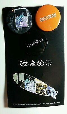 "Led Zeppelin House Of The Holy 1.25"" Music Button Pin Pinback Lot 3Pcs Set Pack"