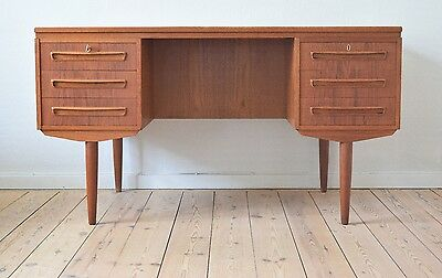 Danish Mid-Century Teak Desk By J. Svenstrup For A.P. Møbler. 1960's.