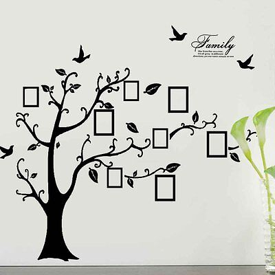 Art Family Decor Photo Frame Quotes Wall Stickers Tree Vinyl  Removable Decals