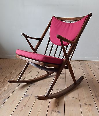 Danish Model 182 Teak Rocking Chair By Frank Reenskaug For Bramin.