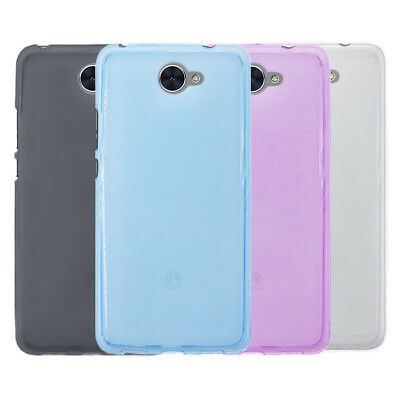 For Huawei Y7 2017 Anti Skid Matte Mist Gel skin Case Back Cover