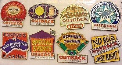 Outback Steakhouse Lot of 8 Pins hat lapel pin Collectible