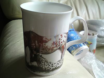 Vintage 1991 Roy Kirkham English Bone China Horses Mug.vgc, Free-Mailing.