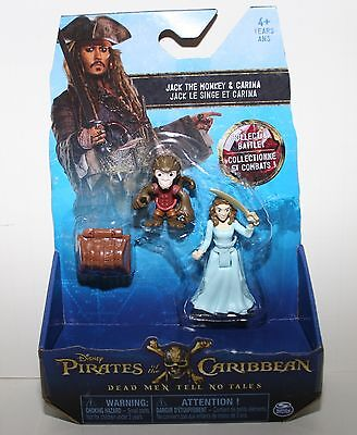 Pirates of the Caribbean 2-Pack Action Figure - Jack the Monkey and Carina NEW