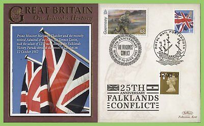 G.B. /Guernsey 2007 25th Anniversary Falklands Conflict commemorative Cover