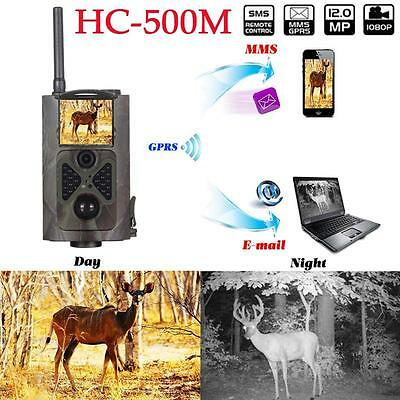 HC-500m HD GSM GPRS MMS  contrôle infrarouge Scoutisme Trail chasse caméra 120°