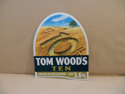 TOM WOODS TEN  Ale Beer Pump Clip ,..