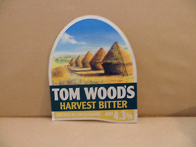 TOM WOODS HARVEST BITTER  Ale Beer Pump Clip ,..