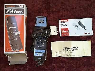 Telecom Telstra one piece vintage Tandy Electronics home phone telephone Ipswich