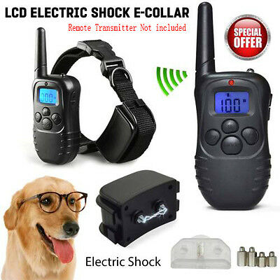Electric Shock Vibrate Anti-Bark Collar Pet Dog Training Remote Control Batte