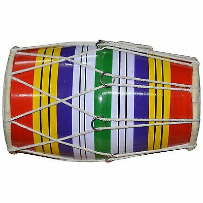 Dholaki Hand Percussion Drum Indian Musical Instrument Made Handmade