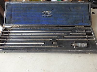 """Moore & Wright 2"""" to 12"""" inside / bore micrometer, complete"""