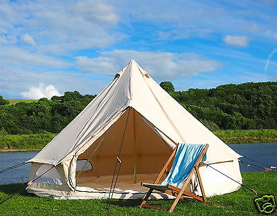4m Bell Tent With Clipped In Ground Sheet. 100% Cotton by Bell Tent Boutique