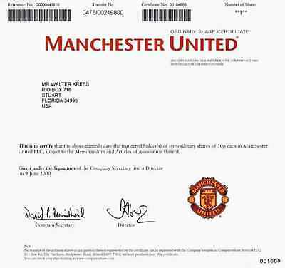 Manchester United PLC Juni 2000 Grossbritannien Old Trafford Premier League TOP