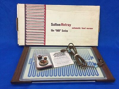 Vintage Salton Hotray Hot Tray Automatic Food Warmer Model H-920