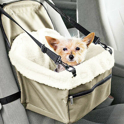 Pet Booster Seat Lookout Dog Cat Car Safety Leash Belt Adjustable Travel Carrier