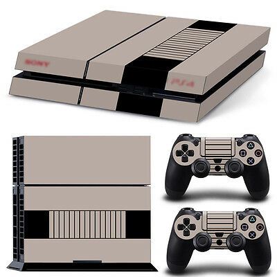 Sony PS4 Playstation 4 Console Skin Sticker New NES + 2 Controllers