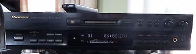 Pioneer MJ-D508 Mini Disc Player. Plays well with remote, slight dent on top