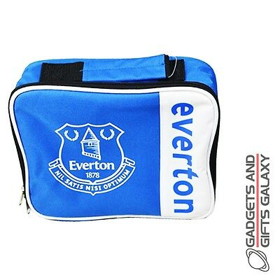 OFFICIAL LICENSED EVERTON FC WORDMARK LUNCH BAG BOX SCHOOL WORK TRAVEL Accessory